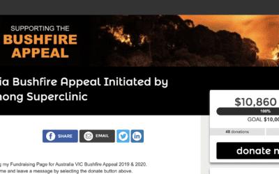 Australia Bushfire Appeal Initiated by Dandenong Superclinic